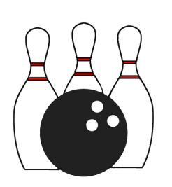 Icon transparent background sports. Bowling clipart symbol