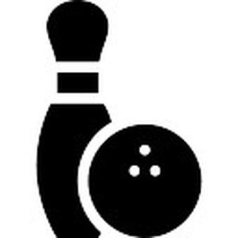 Pin vectors photos and. Bowling clipart symbol