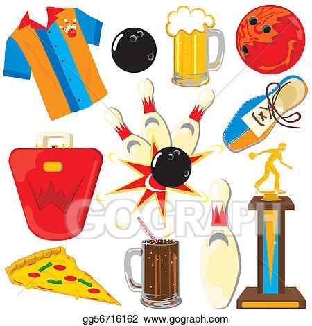 Bowling clipart symbol. Clip art vector icons