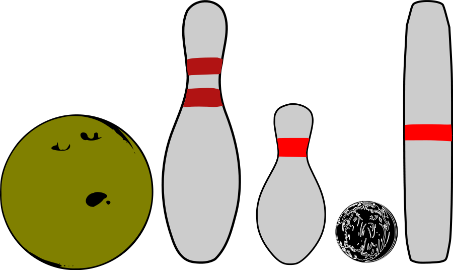 Bowling clipart vector. Free images download clip