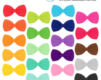 Bow etsy stitched ties. Bows clipart