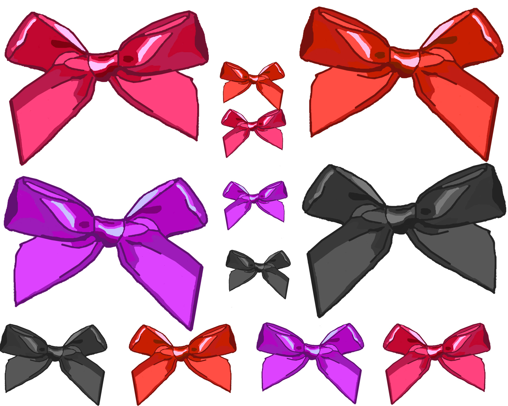 Various Size Clip Art Bows Free Stock Photo - Public Domain Pictures