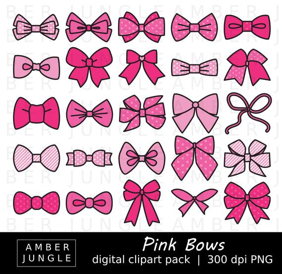 Pink bow images instant. Bows clipart