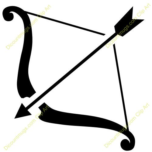 Bow and arrow clip. Bows clipart archery