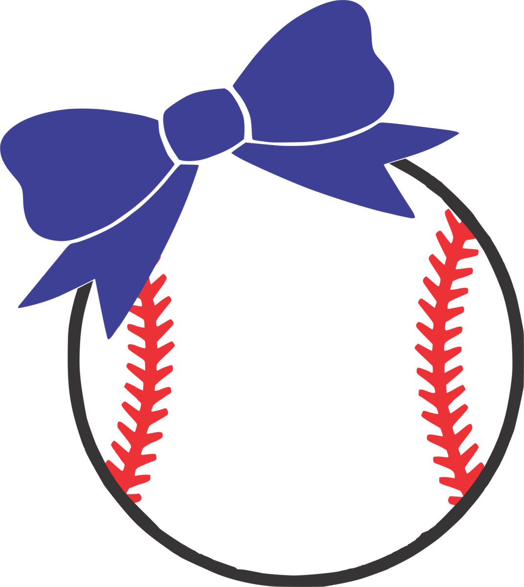 With bow . Bows clipart baseball
