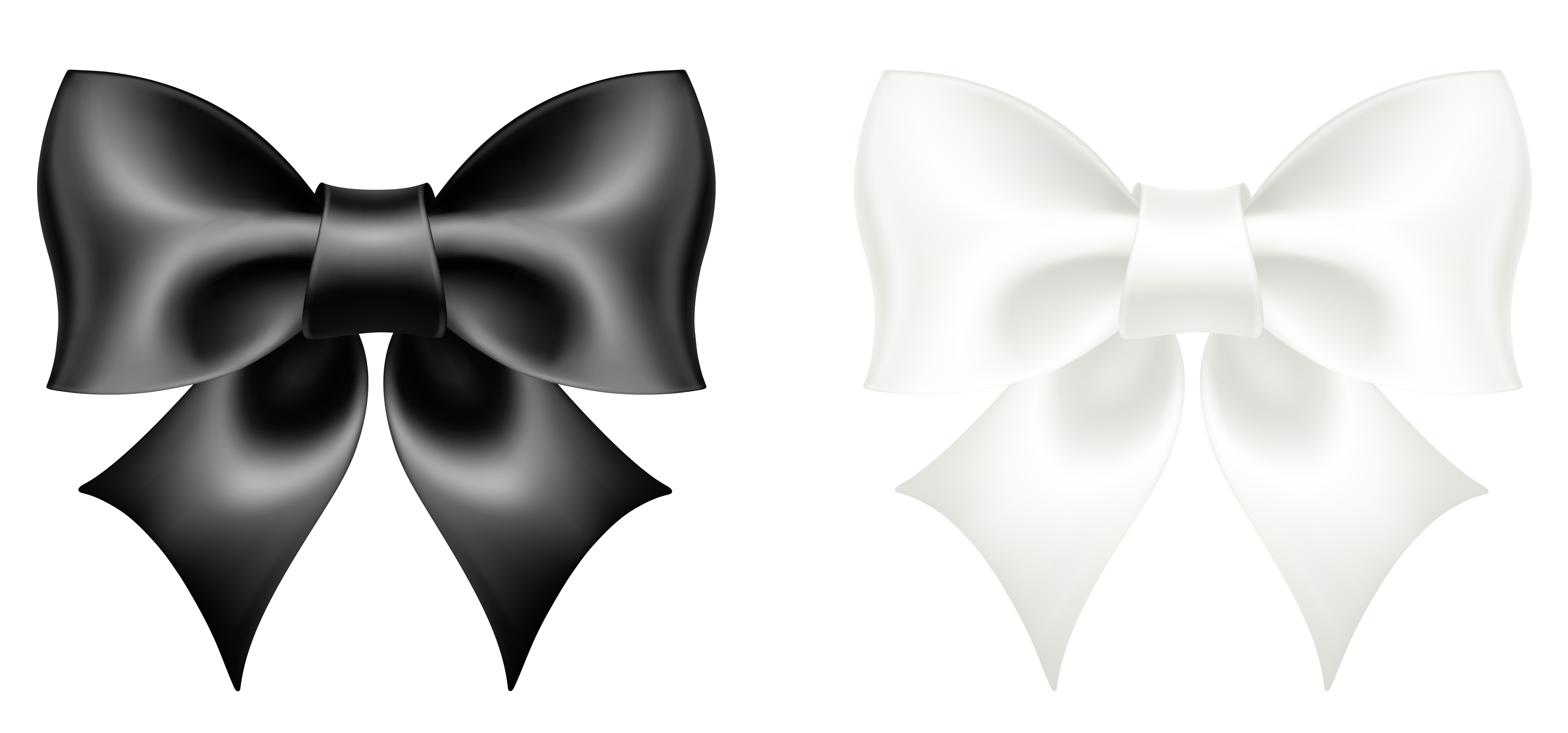 Ribbon bow png picture. Bows clipart black and white