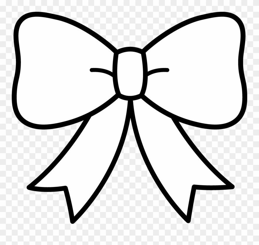 Bows clipart black and white. Bow ribbon