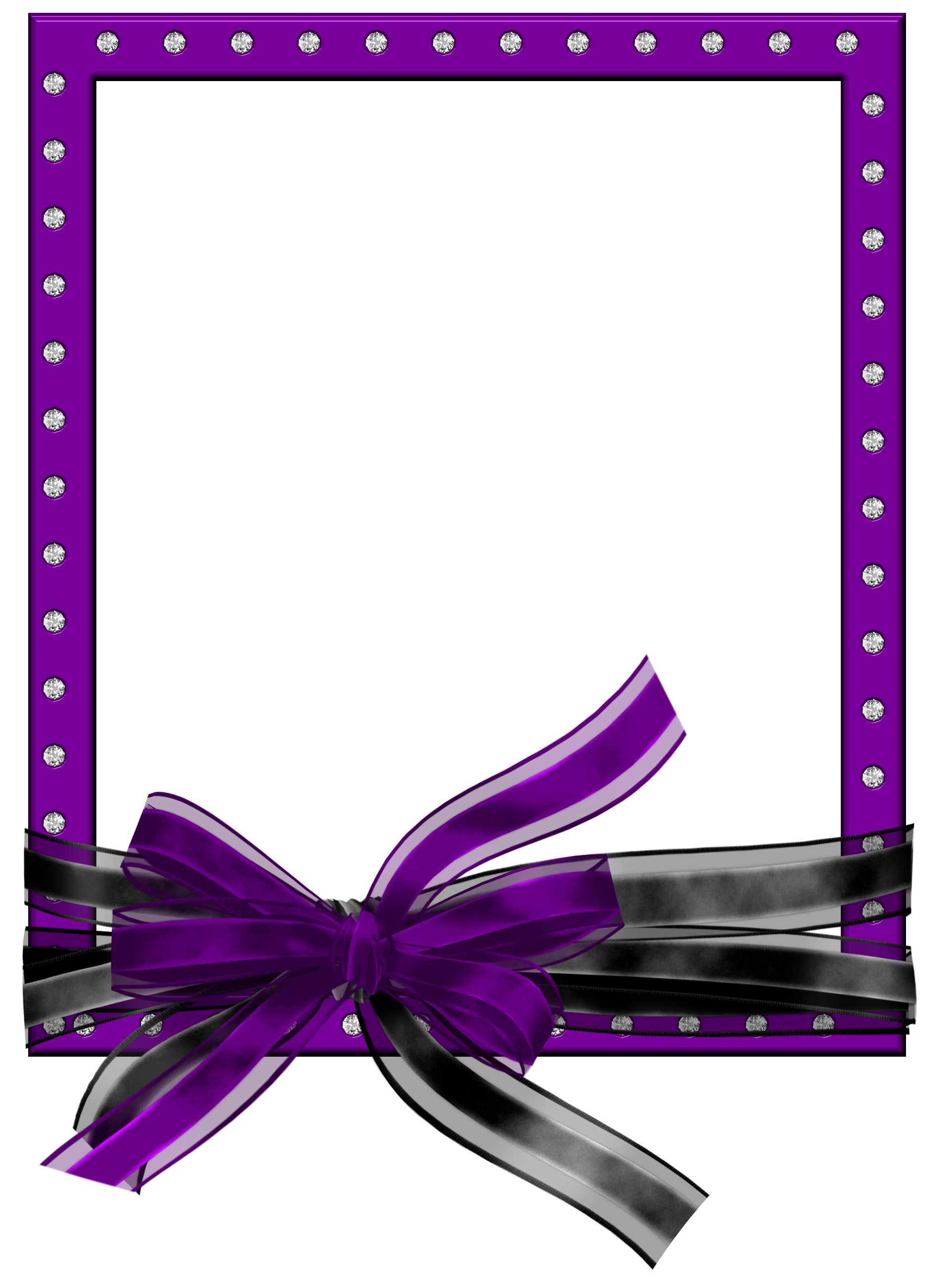 Clipart frame ribbon. Purple with png photo