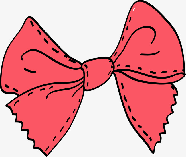 Bows clipart bowknot. Pink bow tie hand