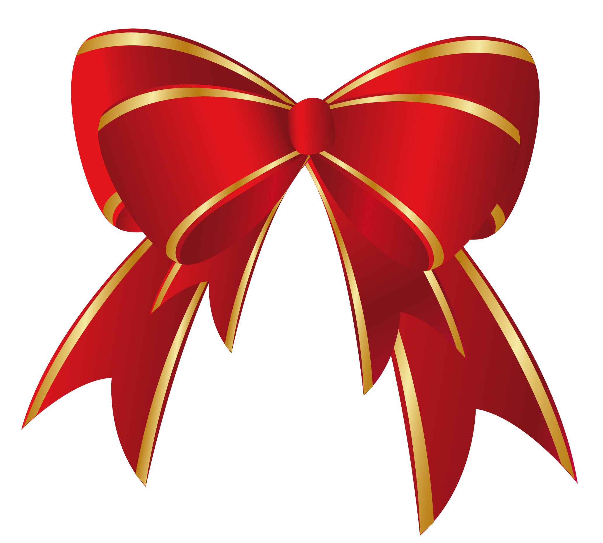 Bows clipart bowknot. Christmas red gold bow