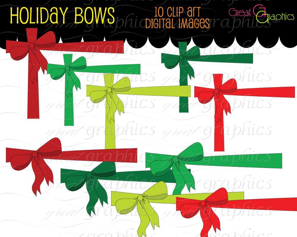 Bows clipart clip art. Christmas bow digital printable