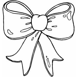 Bows clipart color. Hair bow drawing at