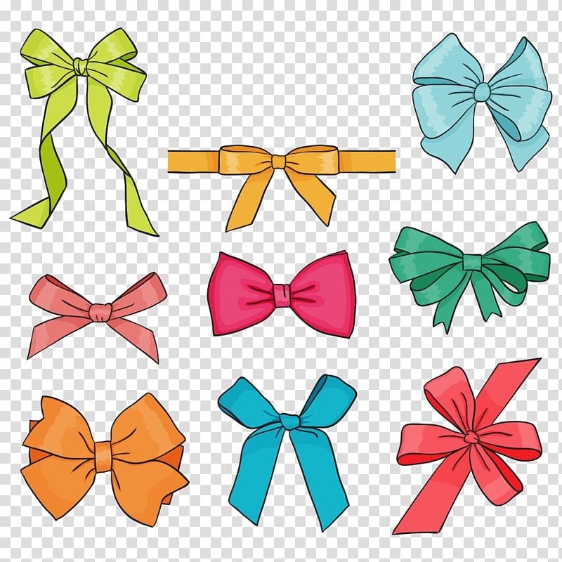 Bows clipart color. Assorted ribbons drawing bow