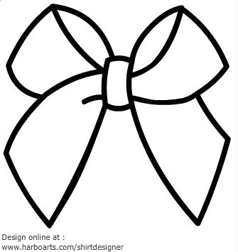 Ribbon bow outline graphic. Bows clipart color