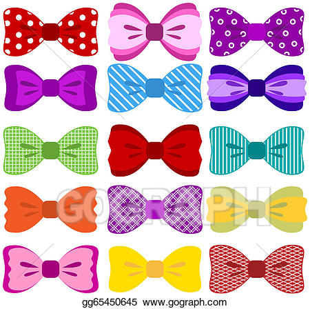 Bows clipart color. Vector stock bow collection