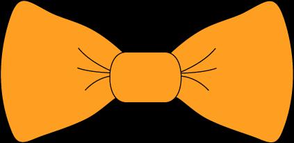 Orange bow tie printable. Bows clipart color