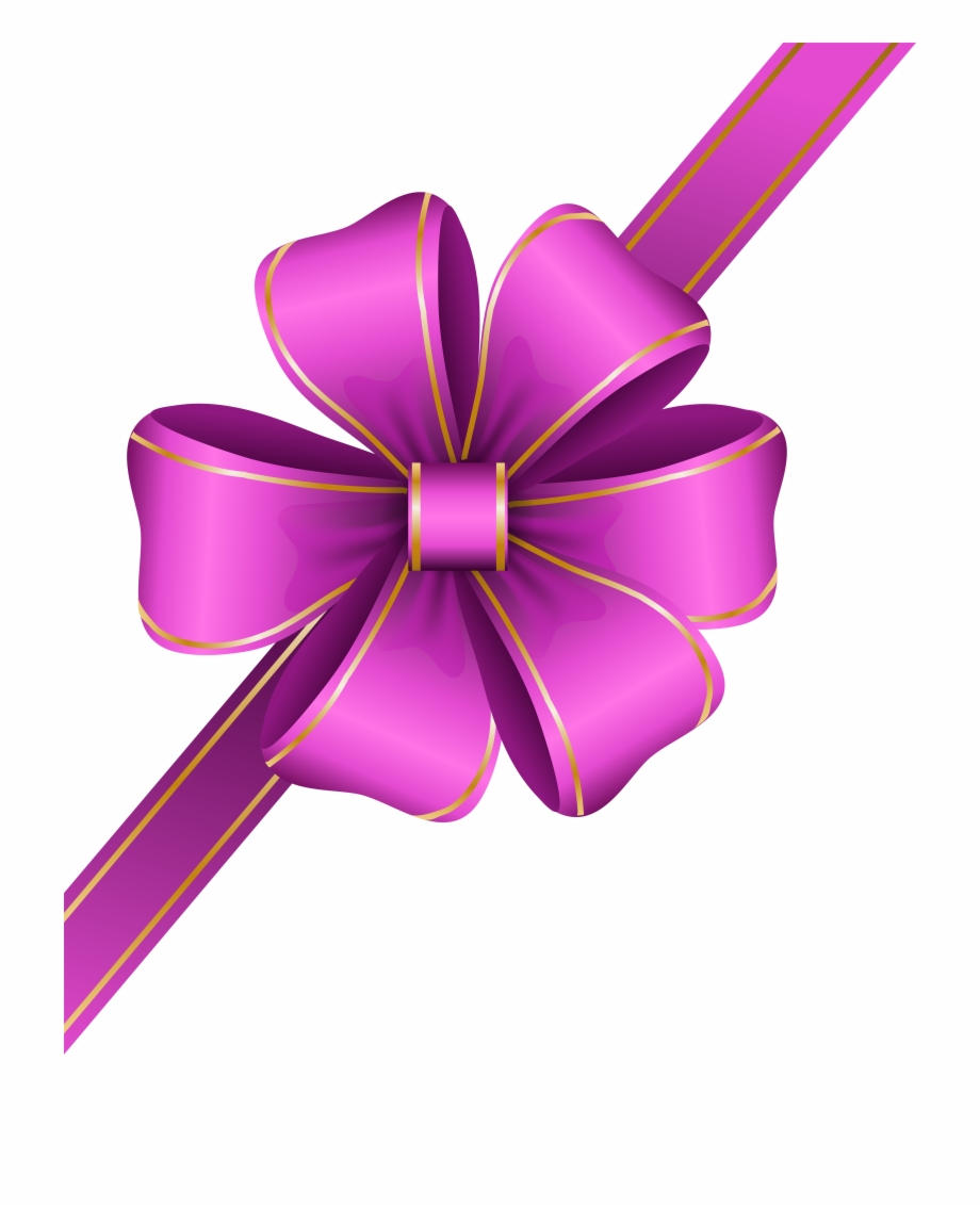 Decorative pink bow transparent. Bows clipart corner