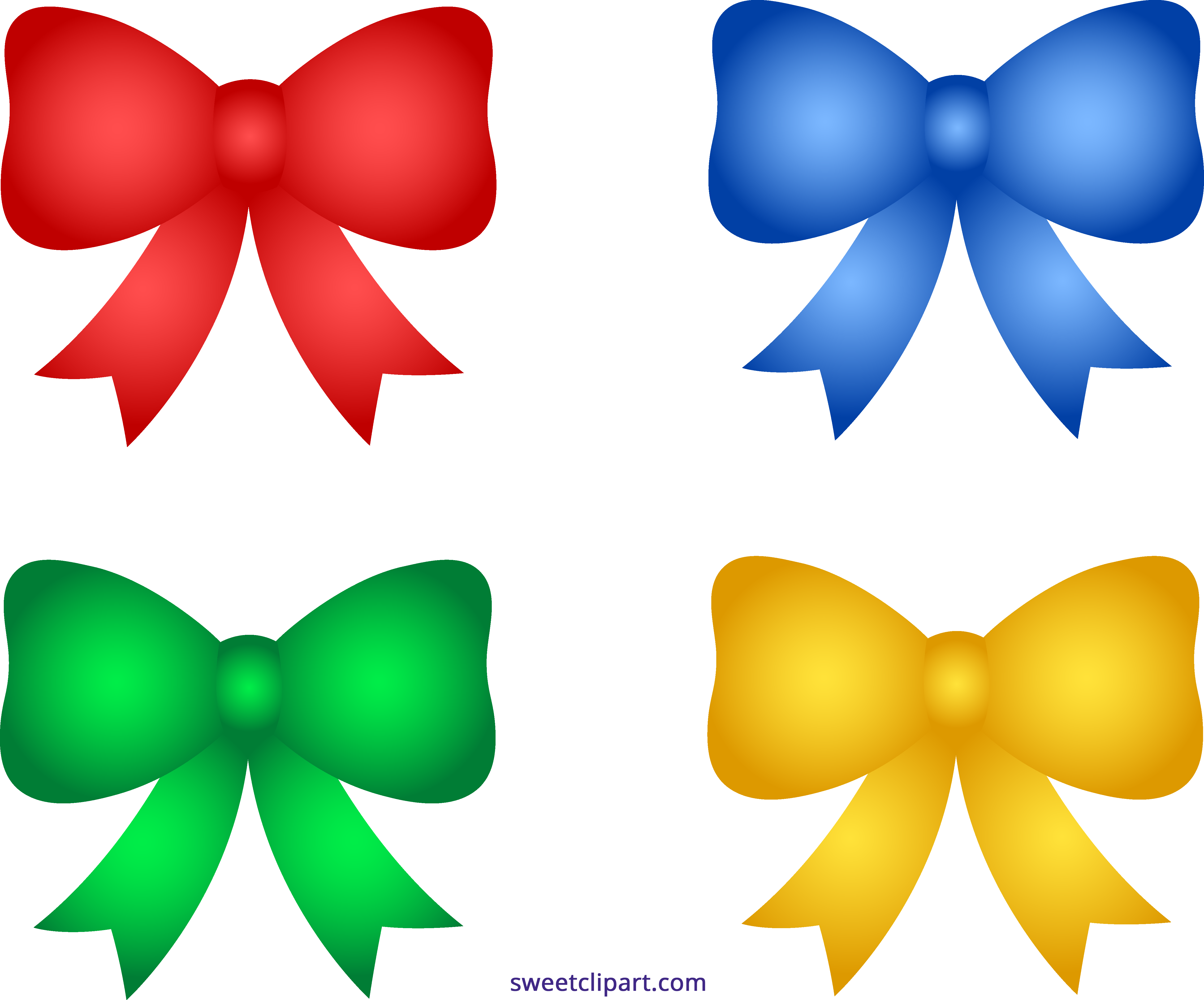 Bows clipart cute. Shiny christmas sweet clip