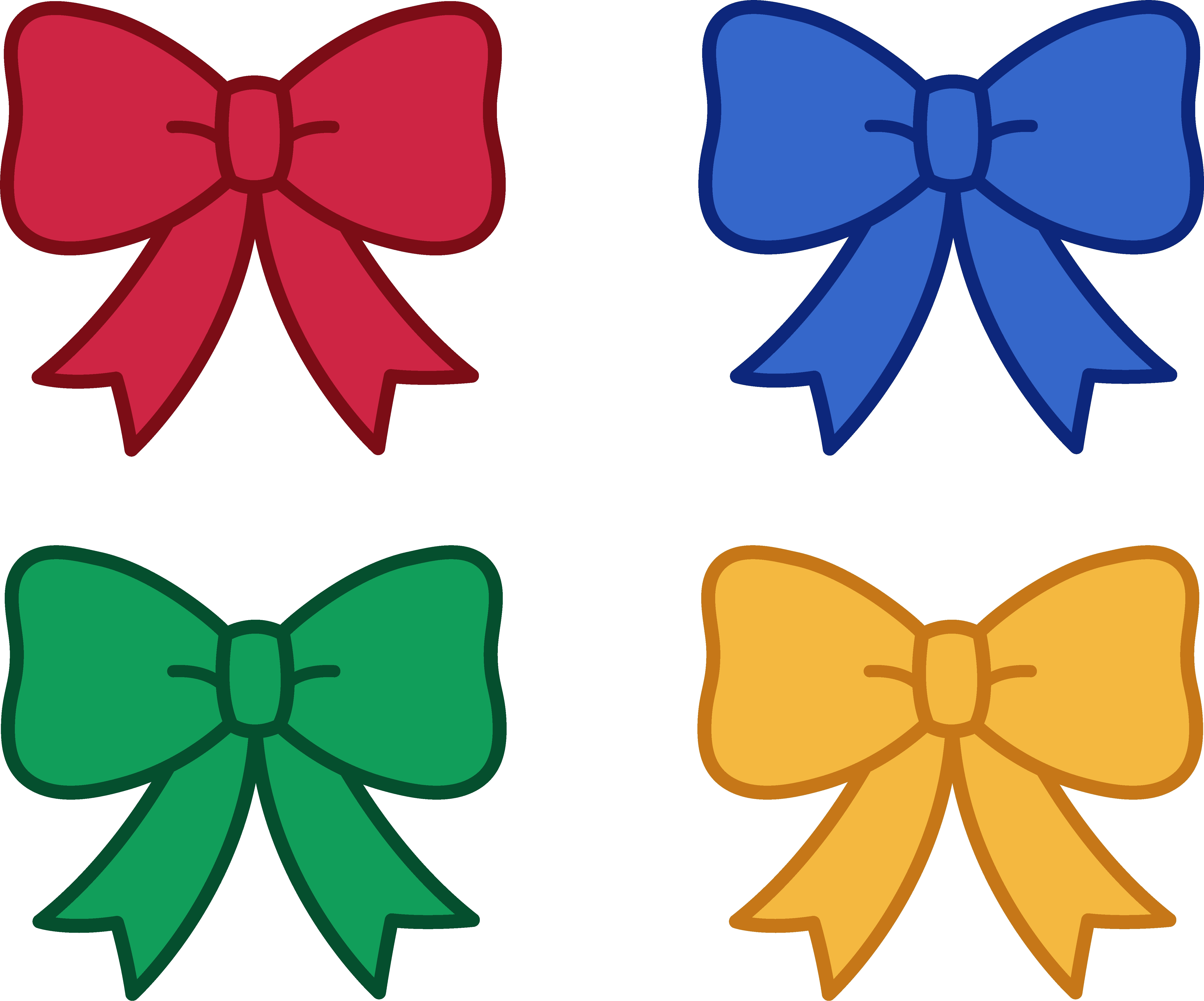 Awesome bow design digital. Bows clipart cute