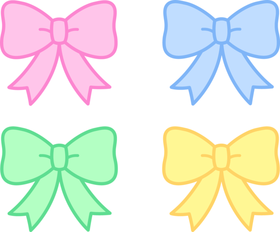 Bows clipart cute. Pastel holiday free clip