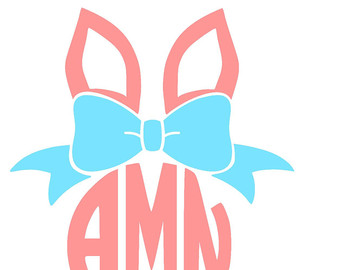 Bows clipart easter. Bow bunny svg etsy