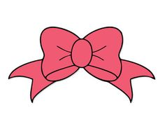 Bows clipart file. Hot pink bow clip