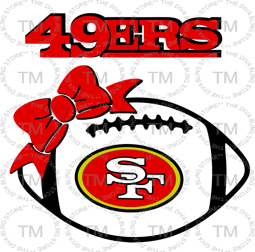 Bows clipart football.  ers with bow