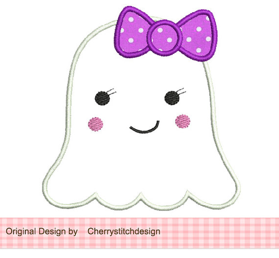 Ghost clipart adorable.  collection of girly