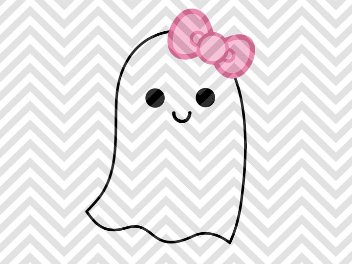 Bows clipart ghost. Girl bow halloween svg