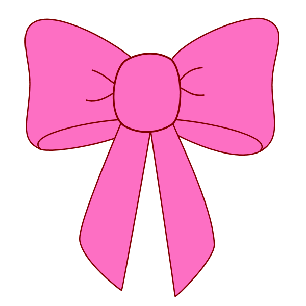 Image of clip art. Dot clipart black hair bow