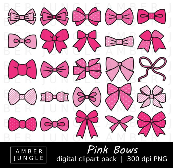 Bowtie clipart hair bow. Pink bows images instant