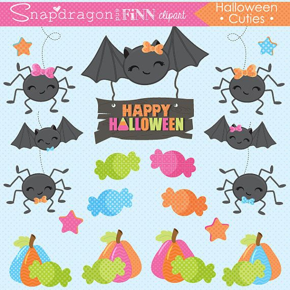 Bows clipart halloween. Our cuties set includes