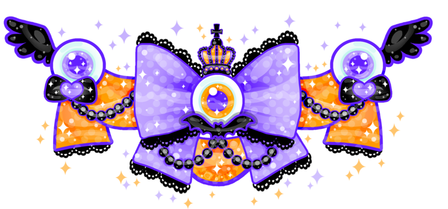 Strange lolita bow by. Bows clipart halloween