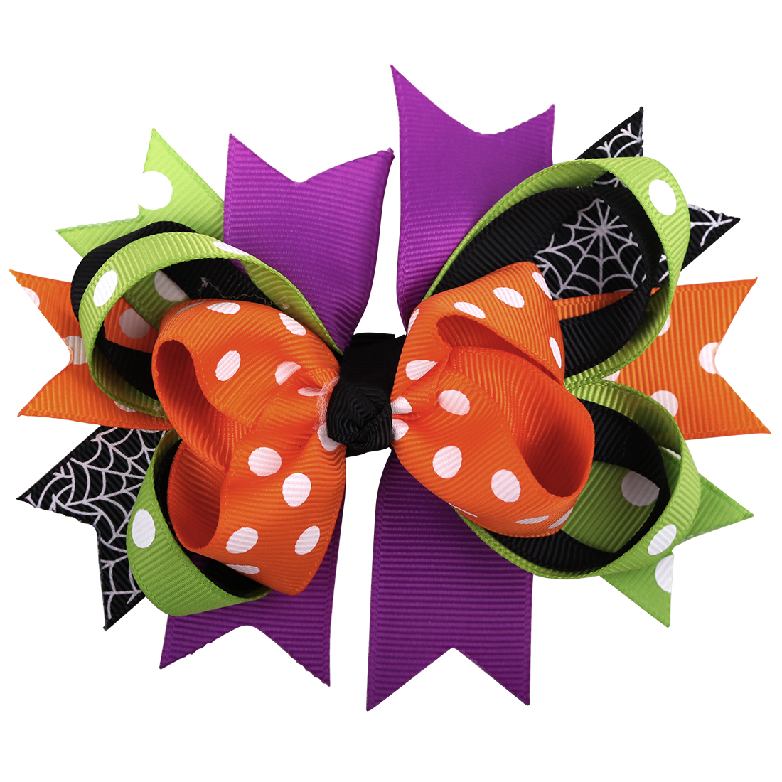 Bows clipart halloween. Xima pc multicolor hair