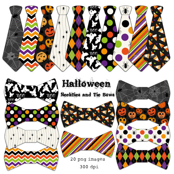 Bows clipart halloween. Necktie and tie bow
