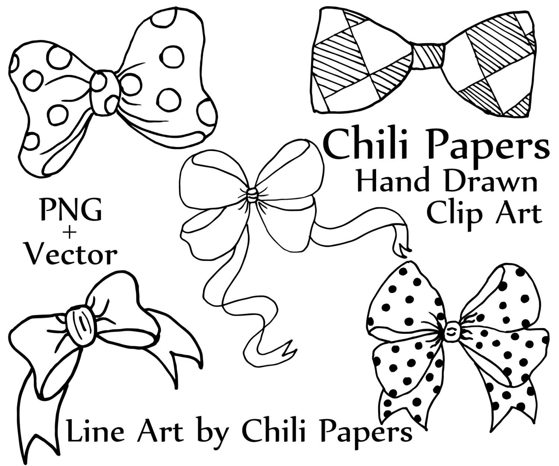 Clip doodle ribbons bow. Bows clipart line art