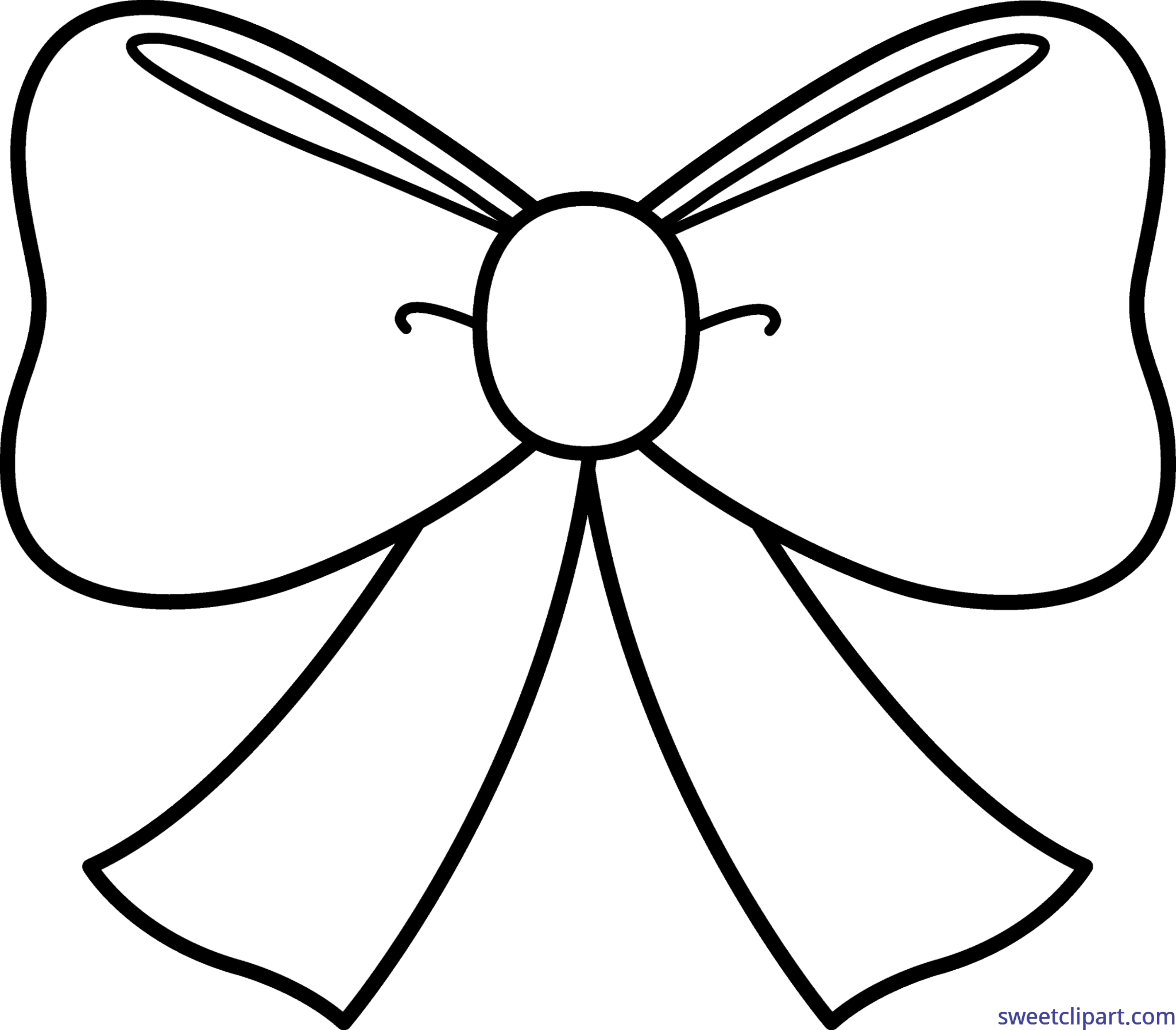 Bows clipart line art. Cute bow coloring page
