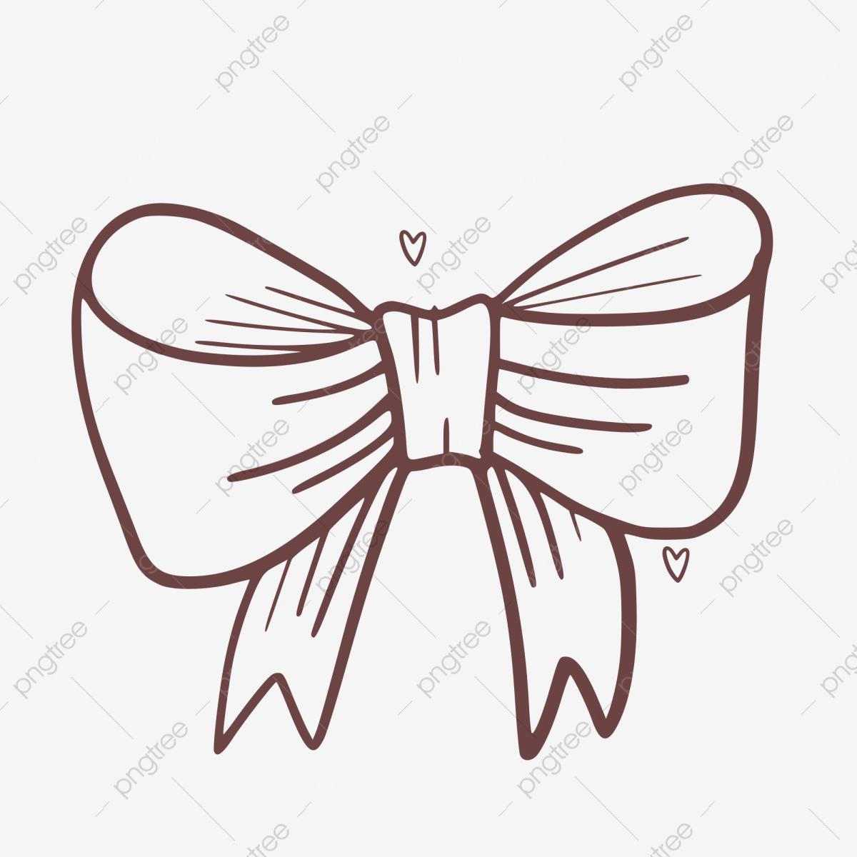 Doodle bow graffiti decoration. Bows clipart line drawing