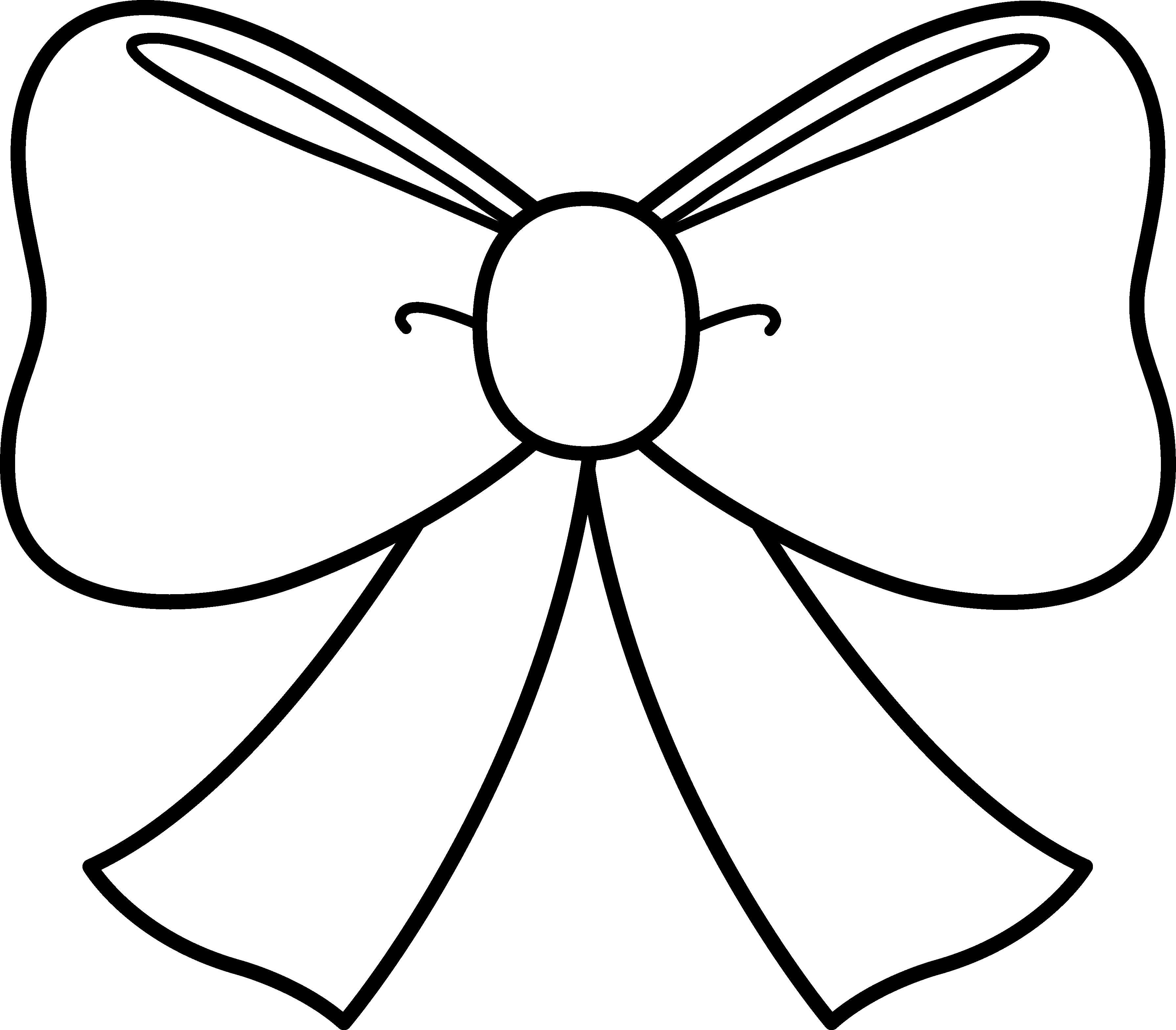 Bows clipart line drawing. Bow free download best