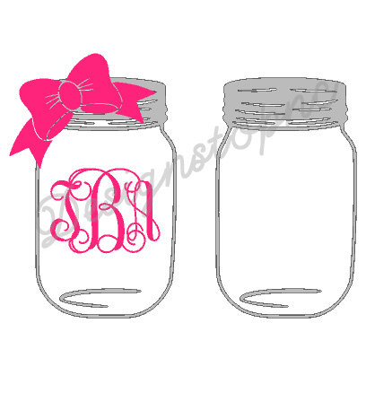 Bows clipart mason jar. With bow