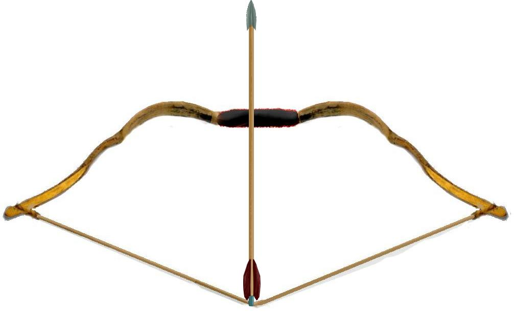Weapons bow and arrow. Bows clipart medieval
