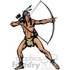 Royalty free indians clip. Bows clipart native american
