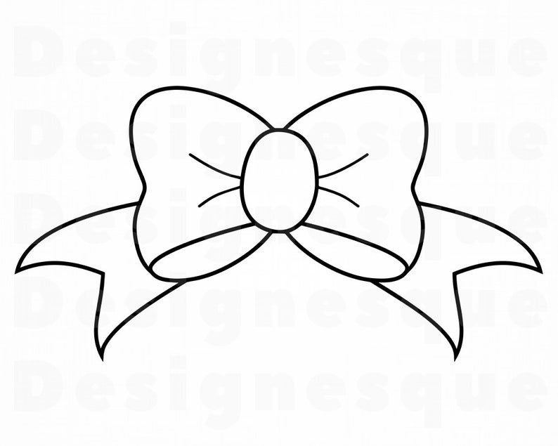 Bows clipart outline. Bow svg tie ribbon
