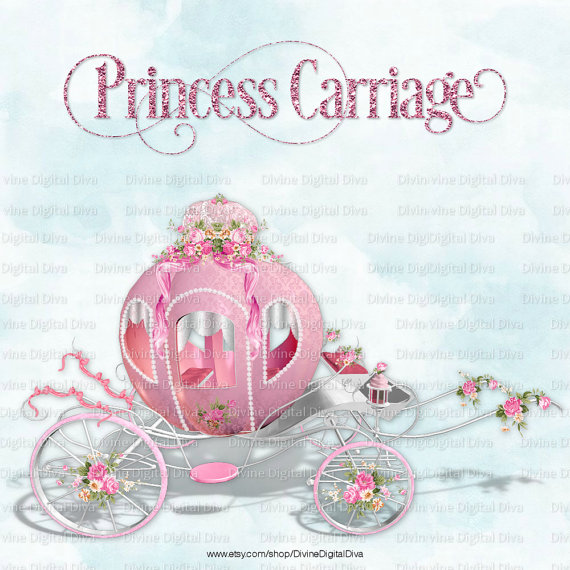 Pink silver carriage roses. Bows clipart princess