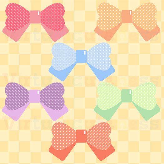 So cute polka dot. Bows clipart printable