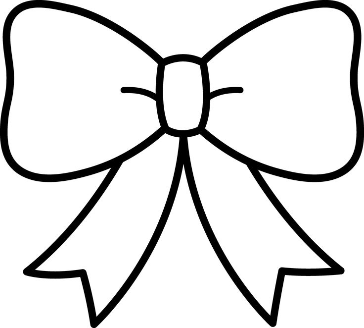 Bows clipart printable.  best ribbons images