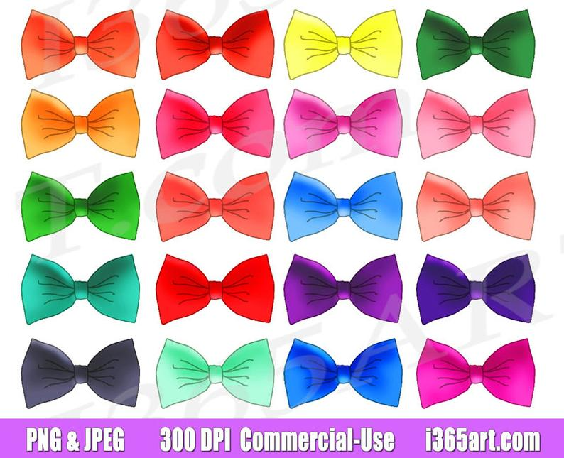 off bow tie. Bows clipart printable