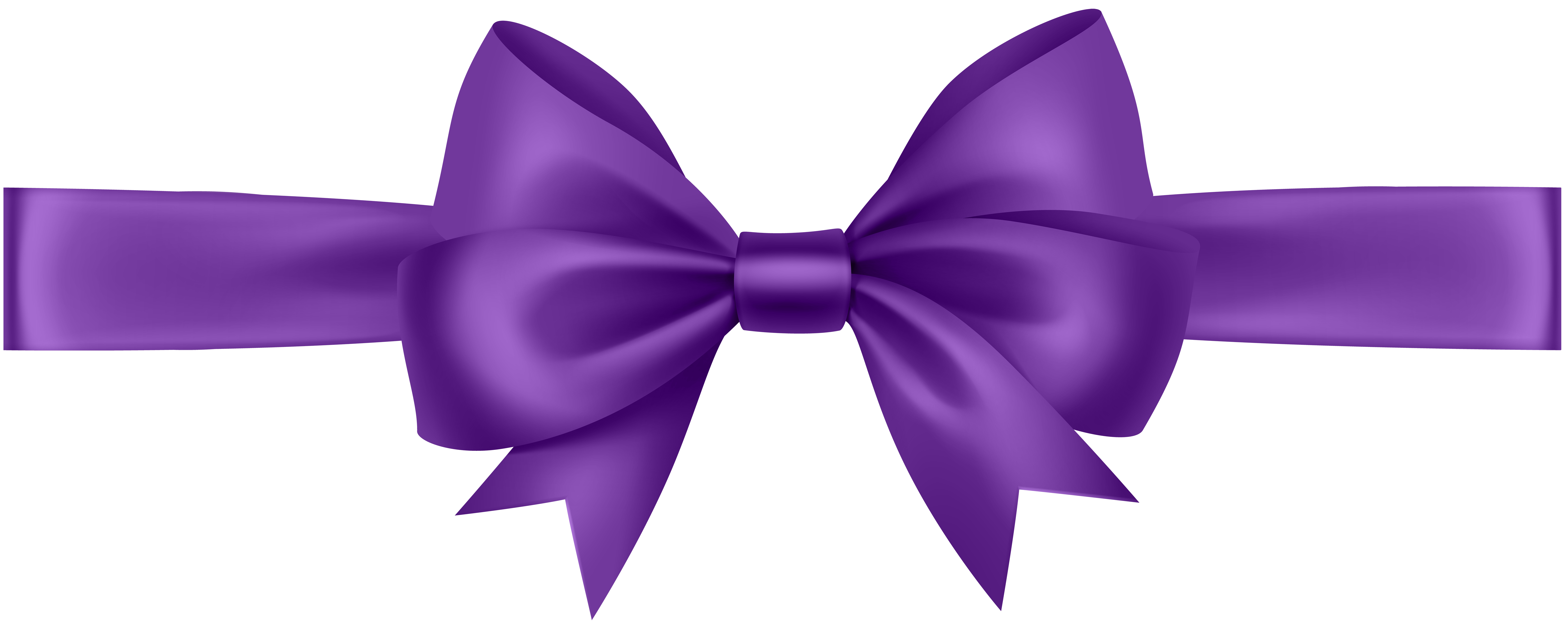 Ribbon with bow transparent. Bows clipart purple