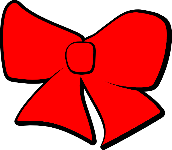 Hair clip art at. Clipart bow red