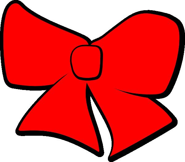 Hair bow clip art. Bows clipart red